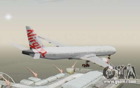 Boeing 777-300ER Virgin Australia v2 for GTA San Andreas right view