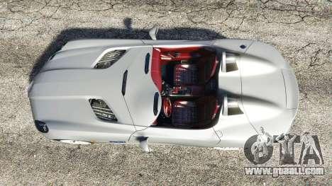 Mercedes-Benz SLR McLaren 2009 for GTA 5