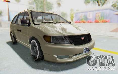 GTA 5 Vapid Minivan Custom without Hydro IVF for GTA San Andreas