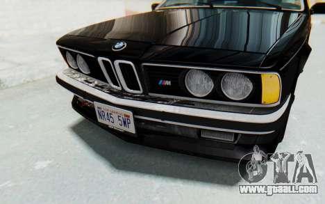 BMW M635 CSi (E24) 1984 IVF PJ3 for GTA San Andreas upper view