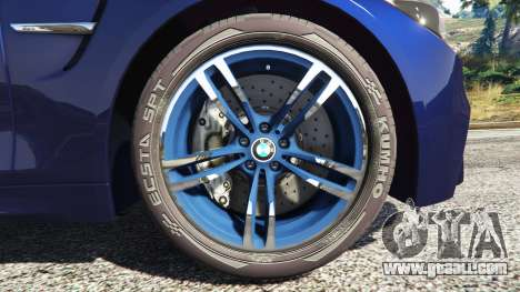 GTA 5 BMW M4 2015 v0.01 rear right side view