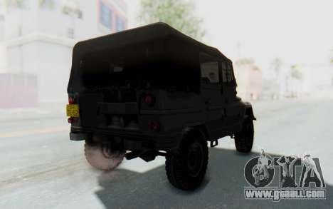 UAZ-460Б for GTA San Andreas back left view