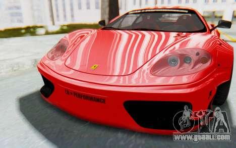 Ferrari 360 Modena Liberty Walk LB Perfomance v2 for GTA San Andreas back view
