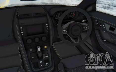 Jaguar F-Type Project 7 for GTA San Andreas inner view