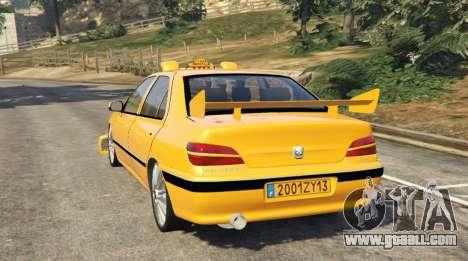 GTA 5 Taxi Peugeot 406 rear left side view
