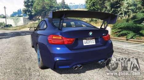GTA 5 BMW M4 2015 v0.01 rear left side view