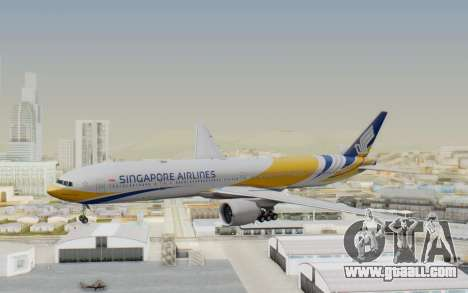 Boeing 777-300ER Singapore Airlines v2 for GTA San Andreas back left view