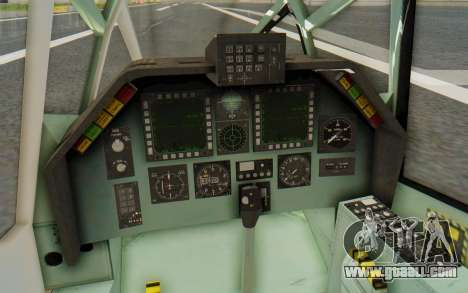 WZ-19 Attack Helicopter Asian for GTA San Andreas inner view