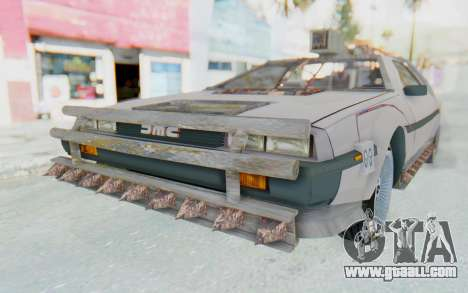 DeLorean DMC-12 2012 End Of The World for GTA San Andreas back left view
