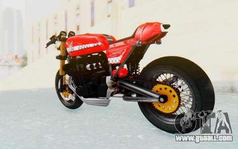 Honda CB750 Moge Cafe Racer for GTA San Andreas left view