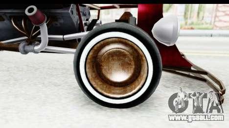 Unique V16 Fordor Ratrod for GTA San Andreas back view