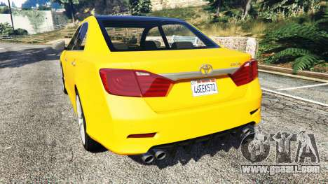 GTA 5 Toyota Camry V50 rear left side view
