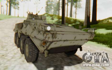 MGSV Phantom Pain STOUT IFV APC Tank v2 for GTA San Andreas back left view