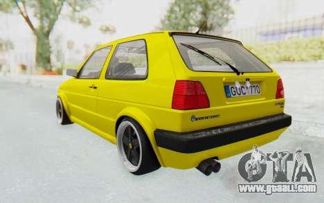 Volkswagen Golf Mk2 Lemon for GTA San Andreas left view