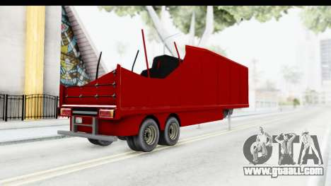 Renault Magnum TopGear Trailer for GTA San Andreas left view