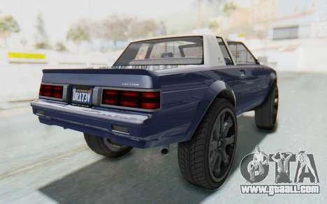 GTA 5 Willard Faction Custom Donk v3 IVF for GTA San Andreas back left view