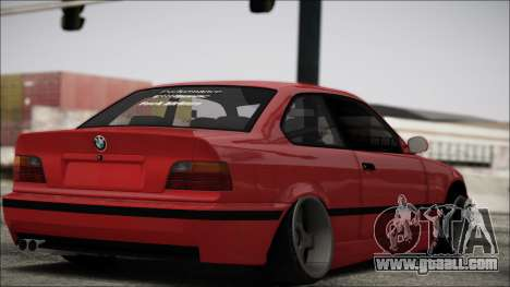 BMW E36 Stance for GTA San Andreas back left view
