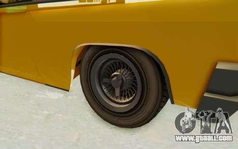 GTA 5 Declasse Voodoo PJ SA Lights for GTA San Andreas back view