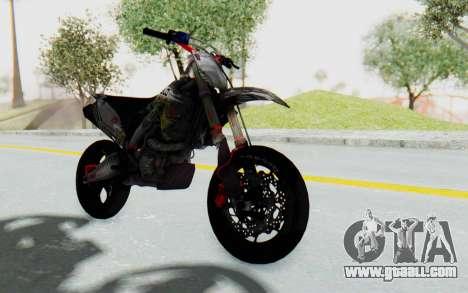 Kawasaki KX125 Supermoto v2 High Modif for GTA San Andreas right view