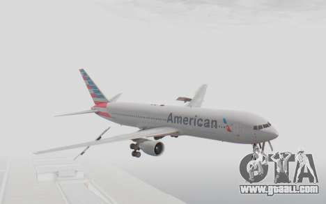 Boeing 767-300ER American Airlines for GTA San Andreas back left view
