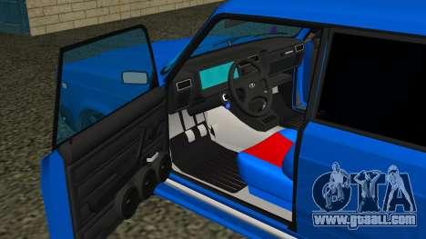 VAZ 2107 Sport for GTA San Andreas upper view