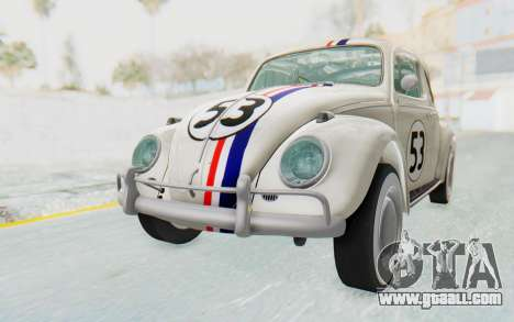Volkswagen Beetle 1200 Type 1 1963 Herbie for GTA San Andreas right view
