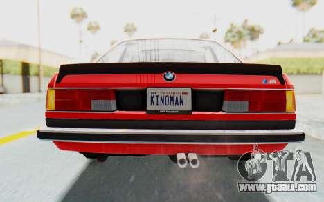 BMW M635 CSi (E24) 1984 IVF PJ2 for GTA San Andreas bottom view