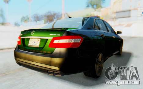 Mercedes-Benz E63 German Police Green for GTA San Andreas back left view