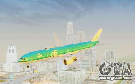 Boeing 777-300ER KLM - Royal Dutch Airlines v3 for GTA San Andreas back left view