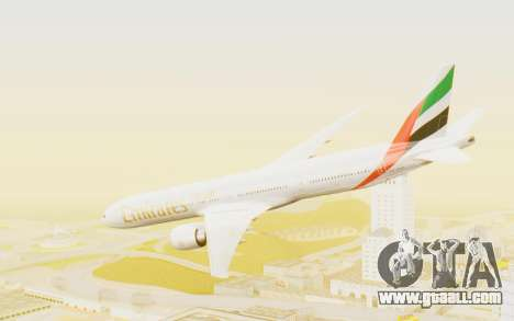 Boeing 777-300ER Emirates for GTA San Andreas left view