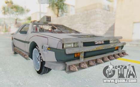 DeLorean DMC-12 2012 End Of The World for GTA San Andreas