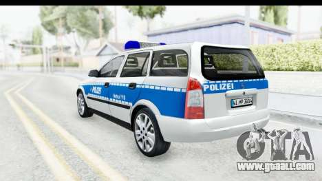 Opel Astra G Variant Polizei Hessen for GTA San Andreas left view