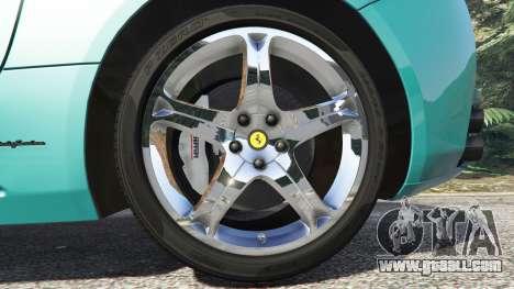 GTA 5 Ferrari California Autovista [add-on] rear right side view