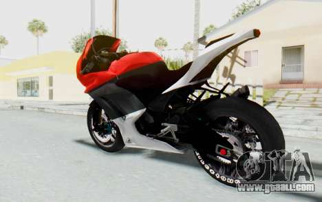 Kawasaki Ninja 250R Superbike for GTA San Andreas left view