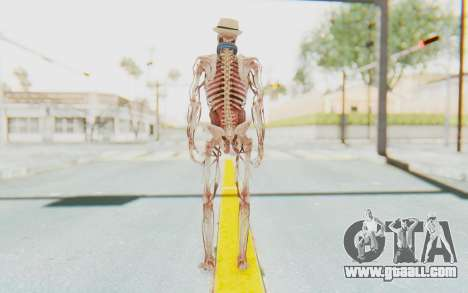 Skeleton with Hat and Glasses for GTA San Andreas third screenshot