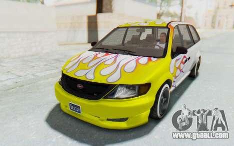 GTA 5 Vapid Minivan Custom for GTA San Andreas engine