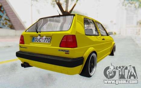 Volkswagen Golf Mk2 Lemon for GTA San Andreas back left view