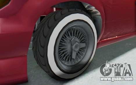 GTA 5 Vapid Minivan Custom without Hydro for GTA San Andreas back view