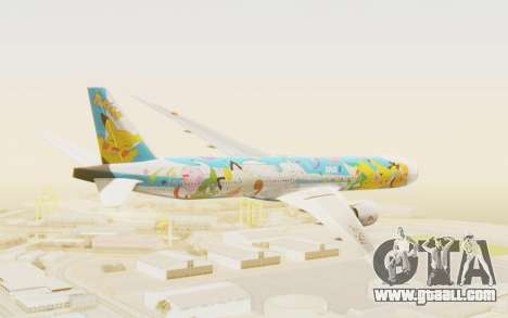 Boeing 777-300ER ANA JA754A - Peace Jet for GTA San Andreas right view