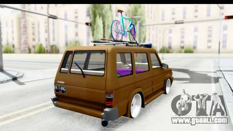 Toyota Kijang Grand Extra with Bike for GTA San Andreas left view