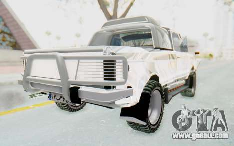 Ikco Super Peykan Pickup for GTA San Andreas back left view