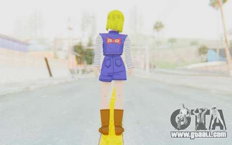 Dragon Ball Xenoverse Android 18 Showing Legs for GTA San Andreas