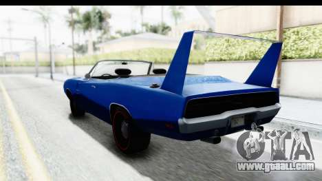 Dodge Charger Daytona 1969 Cabrio for GTA San Andreas back left view
