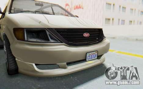 GTA 5 Vapid Minivan IVF for GTA San Andreas inner view