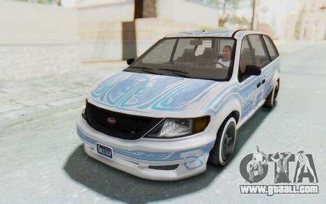 GTA 5 Vapid Minivan Custom without Hydro for GTA San Andreas side view