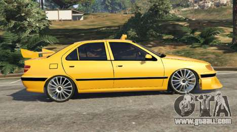 GTA 5 Taxi Peugeot 406 left side view