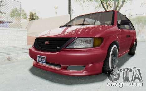 GTA 5 Vapid Minivan Custom without Hydro for GTA San Andreas right view