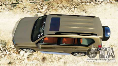 GTA 5 Toyota Land Cruiser Prado 2012 back view