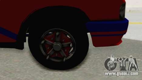 GAZelle 33021 Stylo Colombia for GTA San Andreas back view