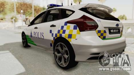 Ford Focus ST 2013 PDRM for GTA San Andreas back left view